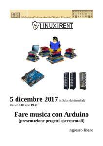 Locandina fare musica con Arduino