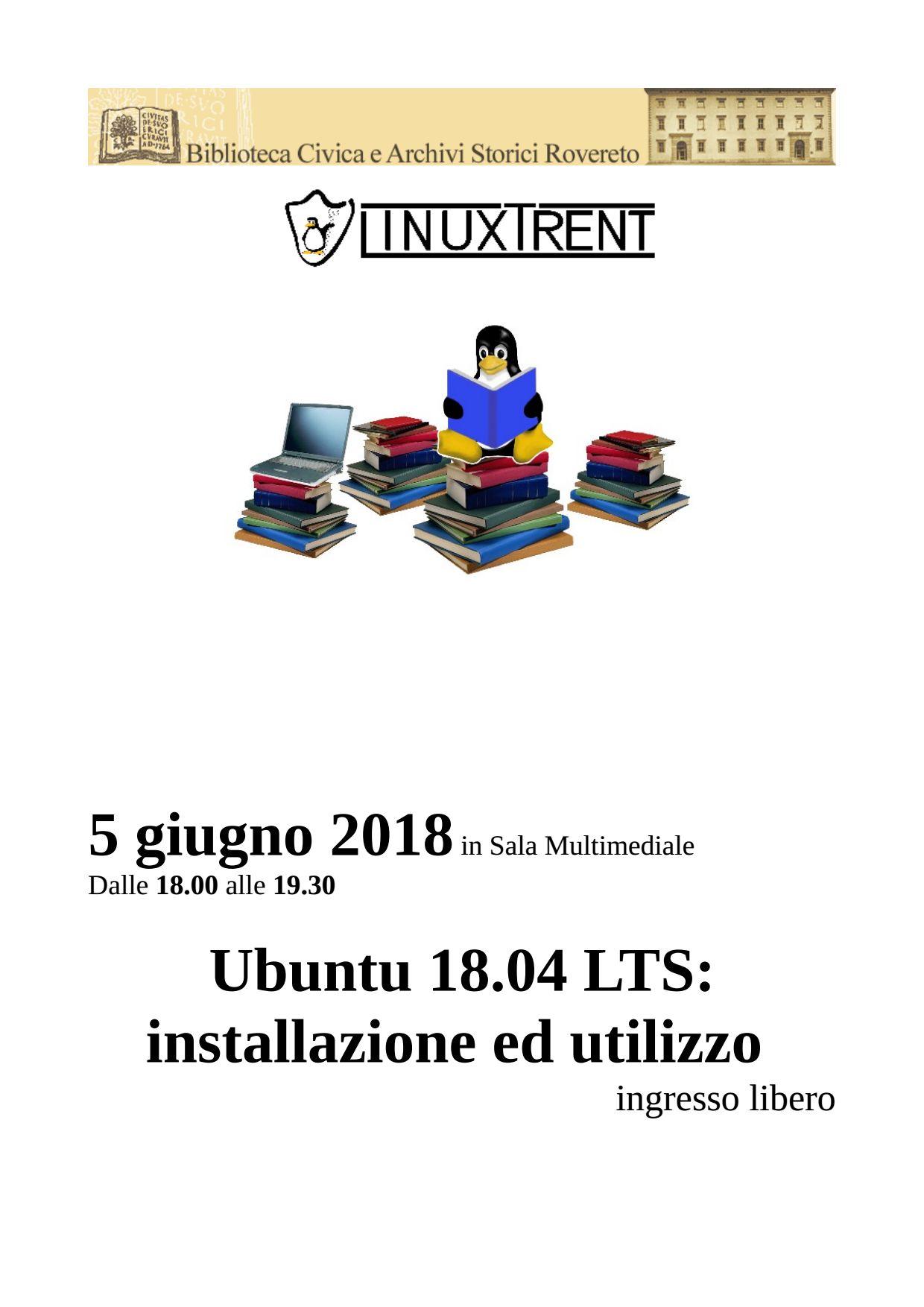 Locandina serata Ubuntu 18.04