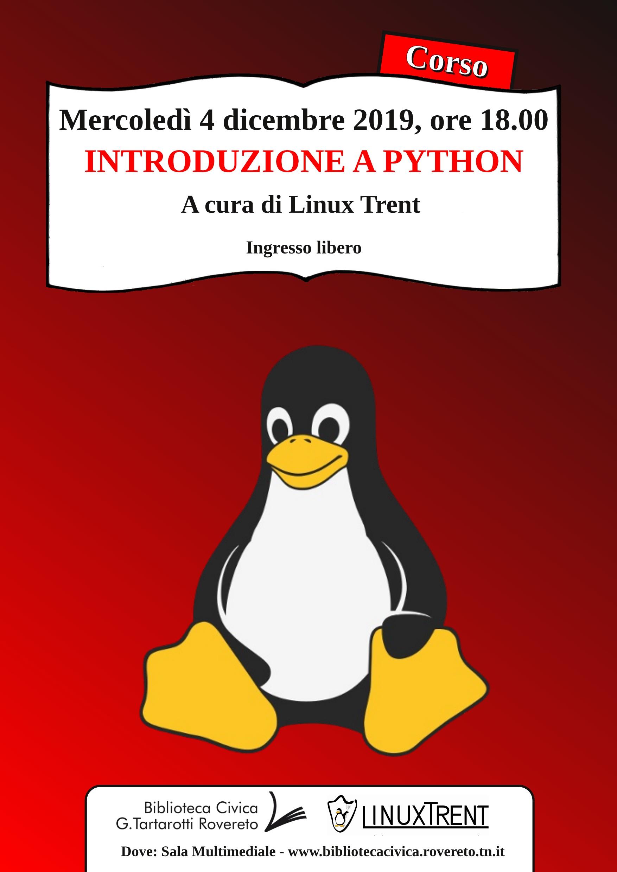 Locandina introduzione a Python
